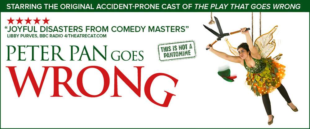 Little Bird Peter Pan Goes Wrong at the Apollo Theatre - A Hilarious Twist on a Classic Tale