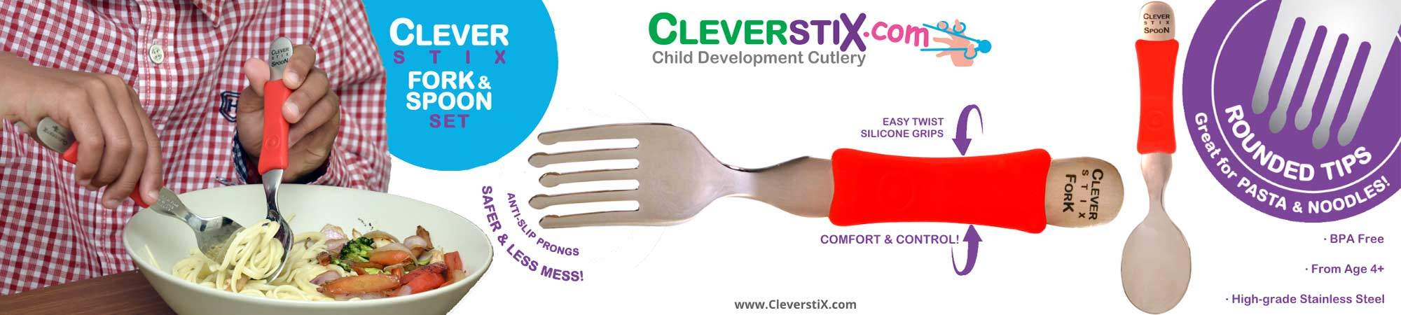 Little Bird NEW: For Easier Mealtimes - The Clever Fork & Spoon Set from CleverstiX.com! 50% Off