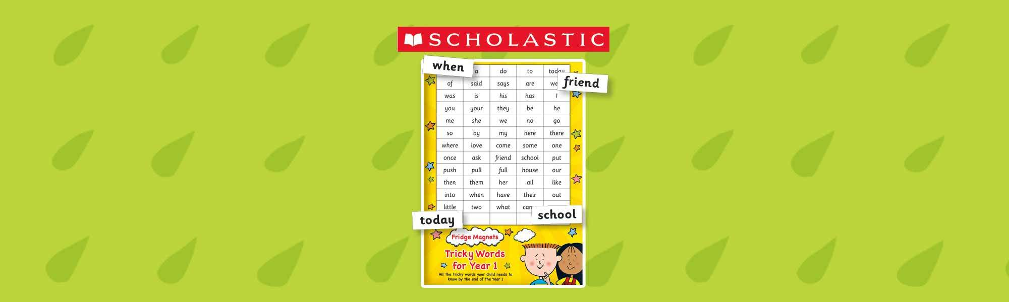 Little Bird 40% off Scholastic Magnets: Fridge Magnets - Tricky Words for Year 1