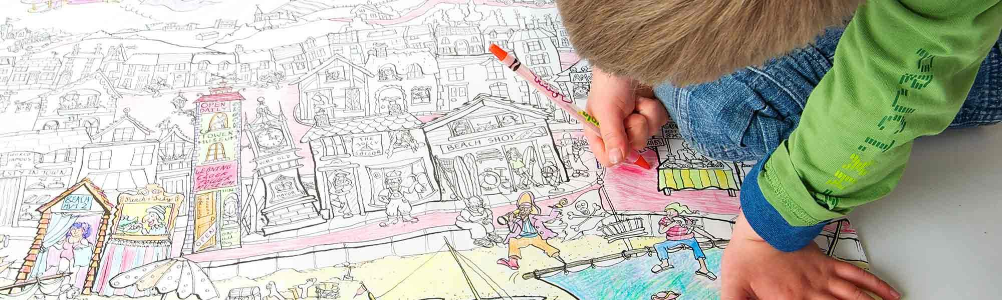 Little Bird 50% off 3 Giant Colouring Posters - Ideal Rainy Day Activity Keep The Kids Busy this Half Term