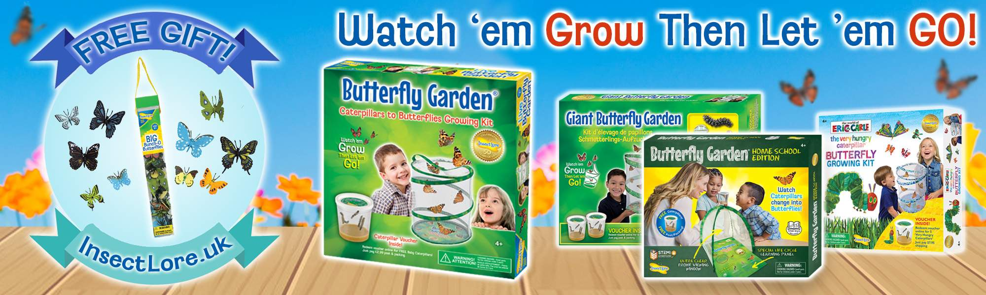 Family & Lifestyle LITTLEBIRD FAMILY PASS MEMBERS ONLY: Receive a FREE Bunch O' Butterflies worth £5.99 with any Insect Lore Butterfly Kit