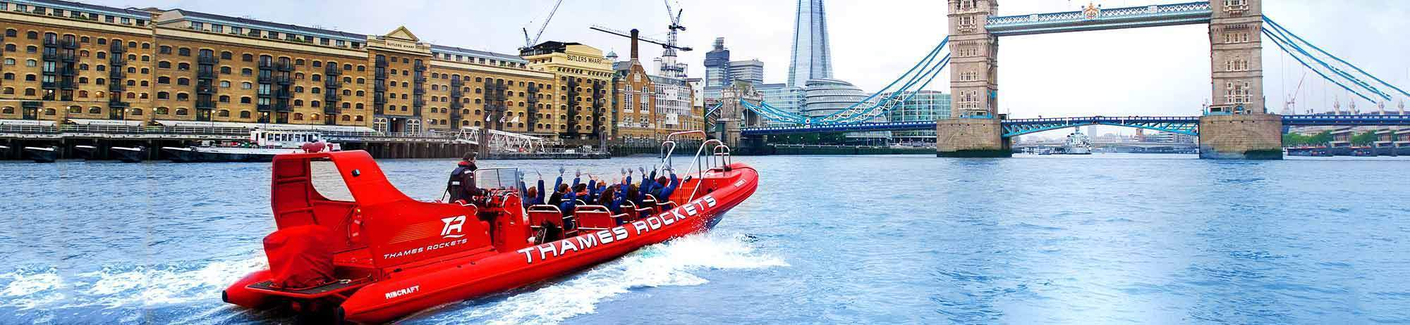 Experience Gifts FAMILY PASS MEMBERS ONLY Thames Rocket, the Award Winning Thames Speedboat Adventure, 15% off